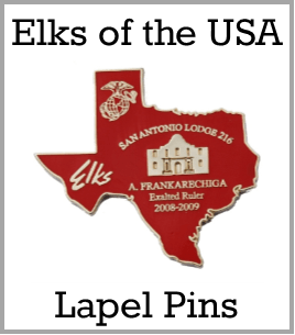 elks of the usa custom pins