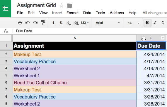 Formatting Cells Based on Date Ranges in Google Sheets -- THE Journal