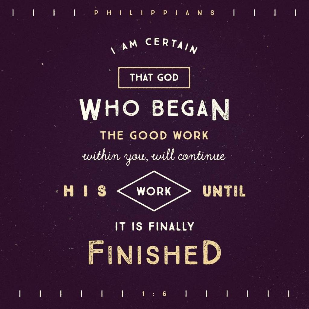God is a finisher! He wants to finish the workhellip