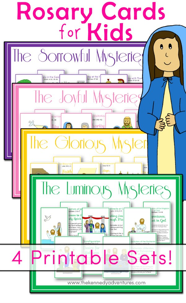 Printable Rosary Cards for Catholic Kids - The Kennedy Adventures!