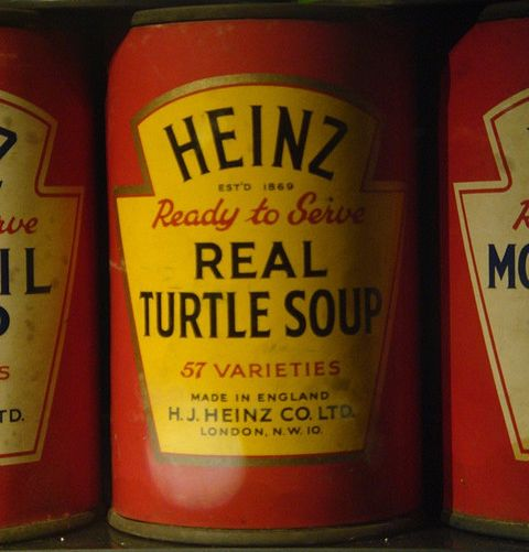 Not feeling the possum? Looking for lighter fare on a chilly fall evening? Well, step on over and grab your bowl of Ready-to-Serve REAL TURTLE SOUP. Mmmmm. Franklin. Double Yum!