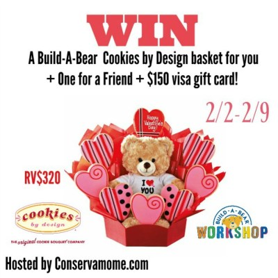 Cookies by Design And Build-A-Bear Workshop For Valentine's Day