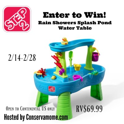 Step2 Rain Showers Splash Pond Water Table Giveaway