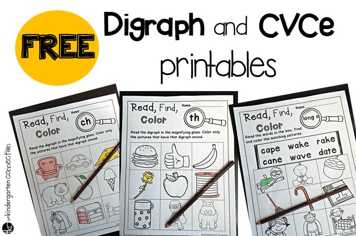 Free digraph and CVCe printables - The Kindergarten Connection