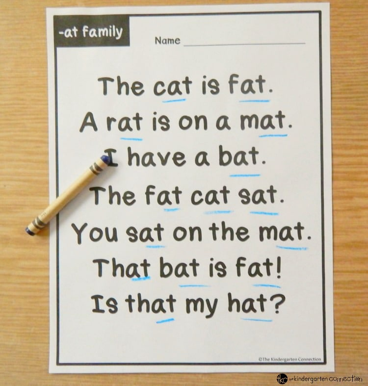 Word Family Fluency Passages for Early Readers