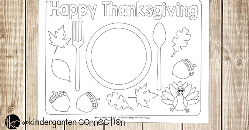 Fun Printable Thanksgiving Placemats