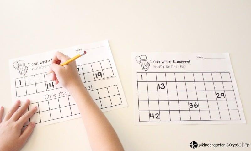 FREE Number Writing Printables for Kindergarten!