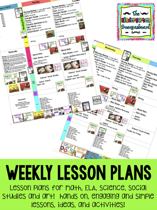 lesson plan graphic for schedulin sunday copy001 The Kindergarten