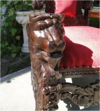 Giant Mahogany Throne Chair for King / Queen or Maybe ...