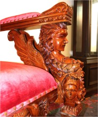 Giant Winged Angel Throne Arm Chair with Red Velvet Fabric ...