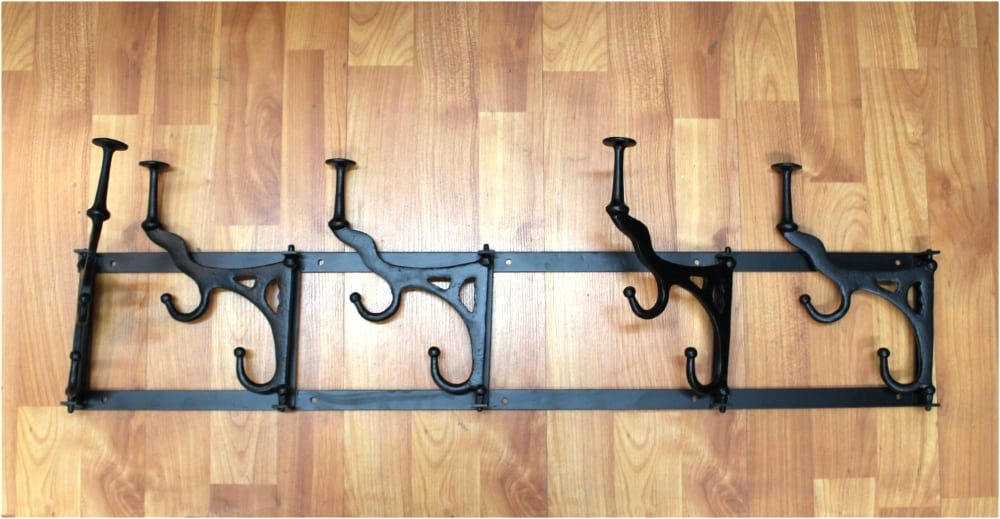 Wall Mounted Rack W Swivel Hooks Big Old Style French