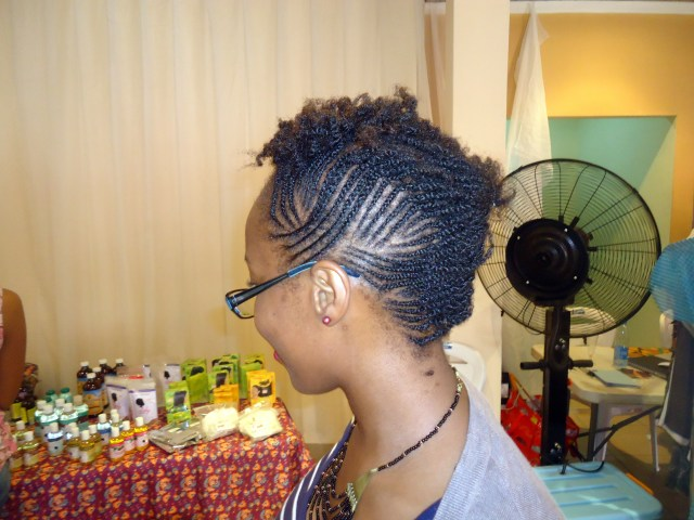 Ijeoma's cute style. She got her hair did at KL's Naturals