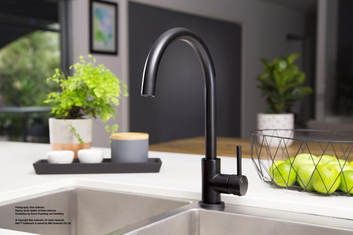 Kitchen Taps Online Australia Meir Black Tapware The Kitchen And Bathroom Blog