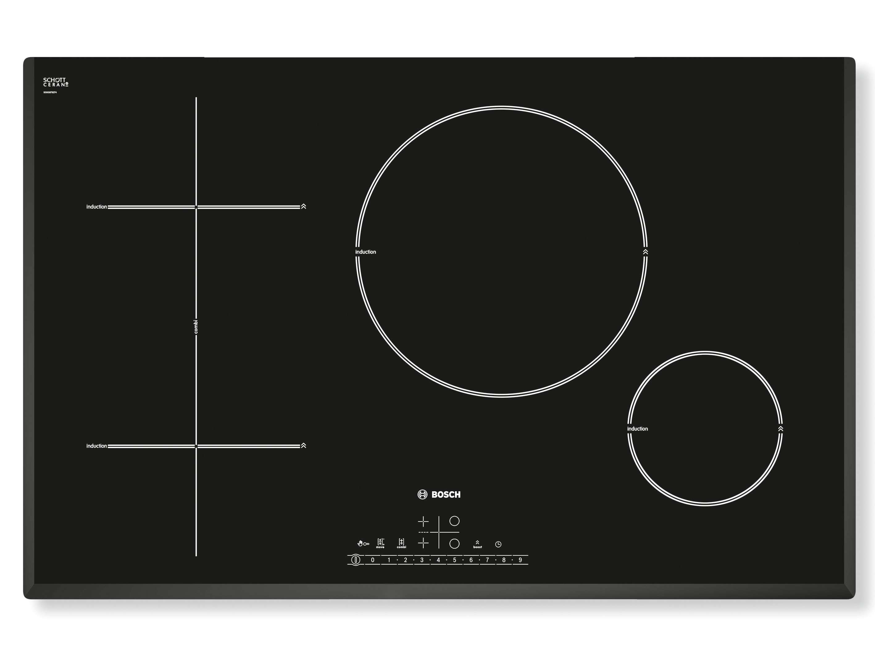 80cm Induction Cooktop Bosch 39s Combi Induction Cooktop The Kitchen And Bathroom
