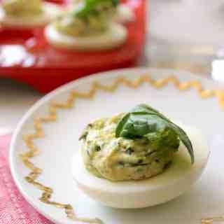 Spinach & Artichoke Deviled Eggs