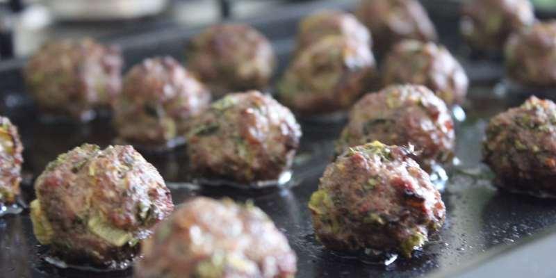 Clean Eating Beef & Kale Meatballs