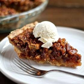 Pecan Pie with a Shortbread Crust