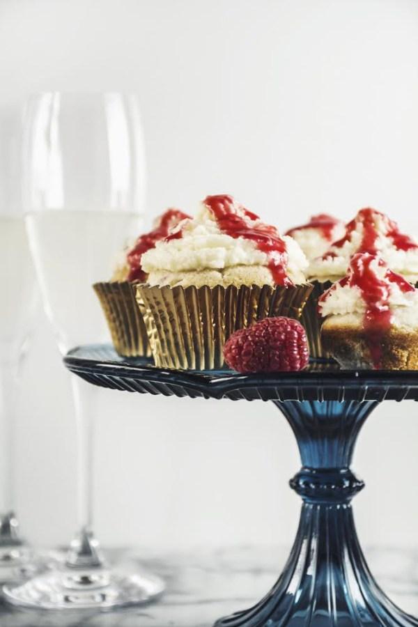 Raspberry White Chocolate Cupcakes with Mascarpone Frosting