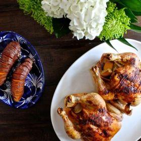 Lemon Garlic Roast Chicken with iDevices