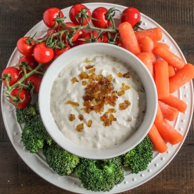 Roasted Red Pepper and Caramelized Onion Ranch Dip with Chobani Greek Yogurt