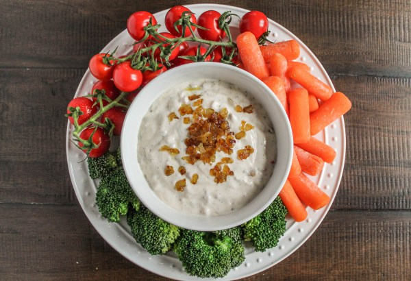 Roasted Red Pepper and Caramelized Onion Ranch Dip-3
