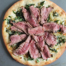 PRE Brands Sirloin Steak and Blue Cheese Pizza