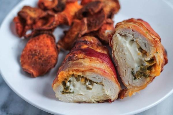 Bacon Wrapped Jalapeño Popper Chicken - thekittchen