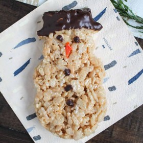 Snowmen Rice Krispie Treats and the Cookies Chocolate and Cheer Party