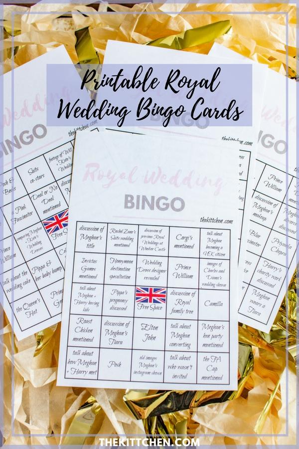 A Royal Wedding Watch Party  Royal Wedding Bingo - thekittchen