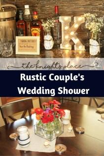 couple wedding shower rustic