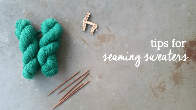 tips for seaming hand knit sweaters