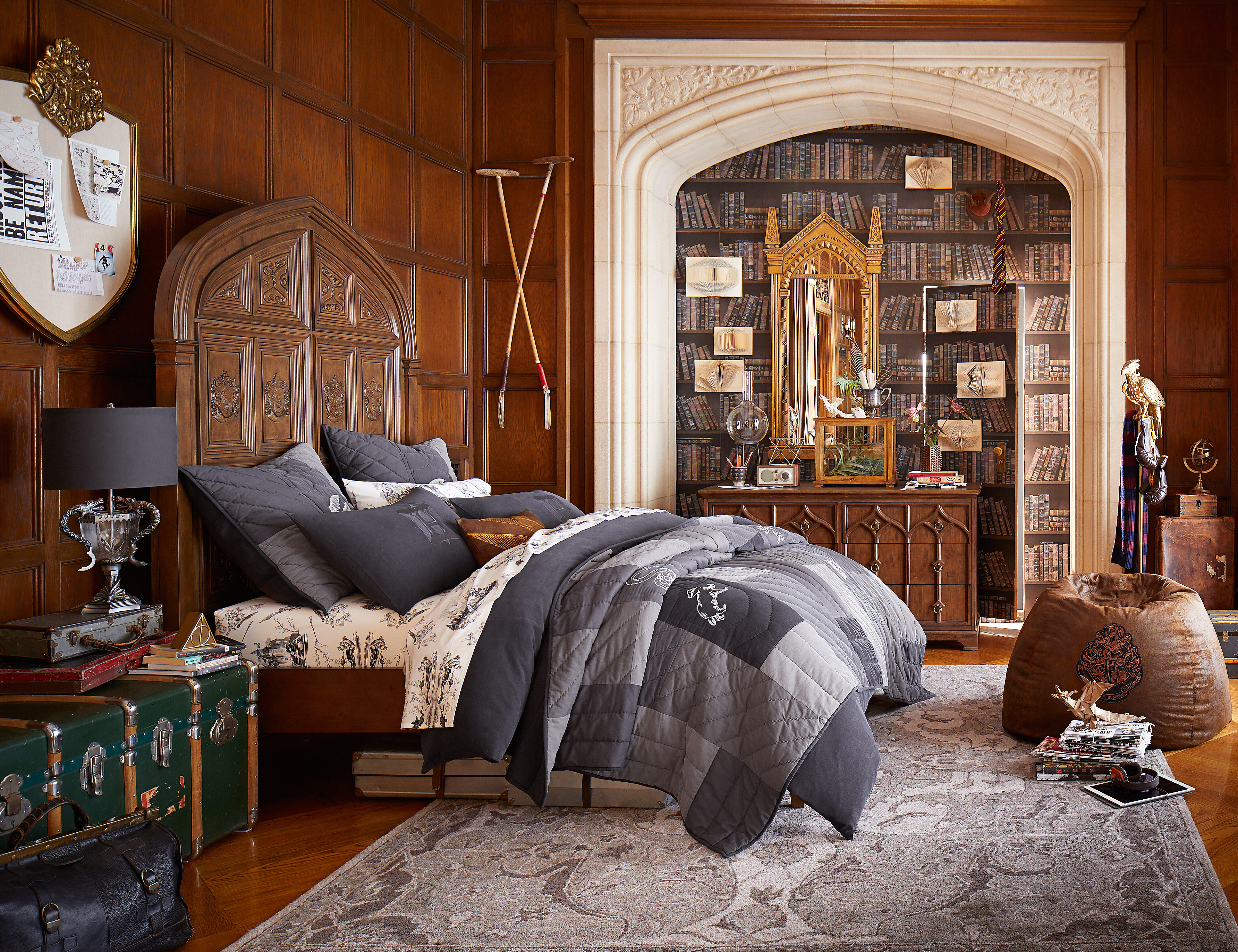 Hogwarts Bedroom Harry Potter And Pottery Barns Collection Is Wedding