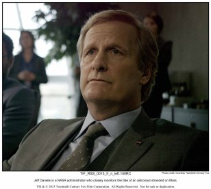 Jeff Daniels is a NASA administrator who closely monitors the fate of an astronaut stranded on Mars.