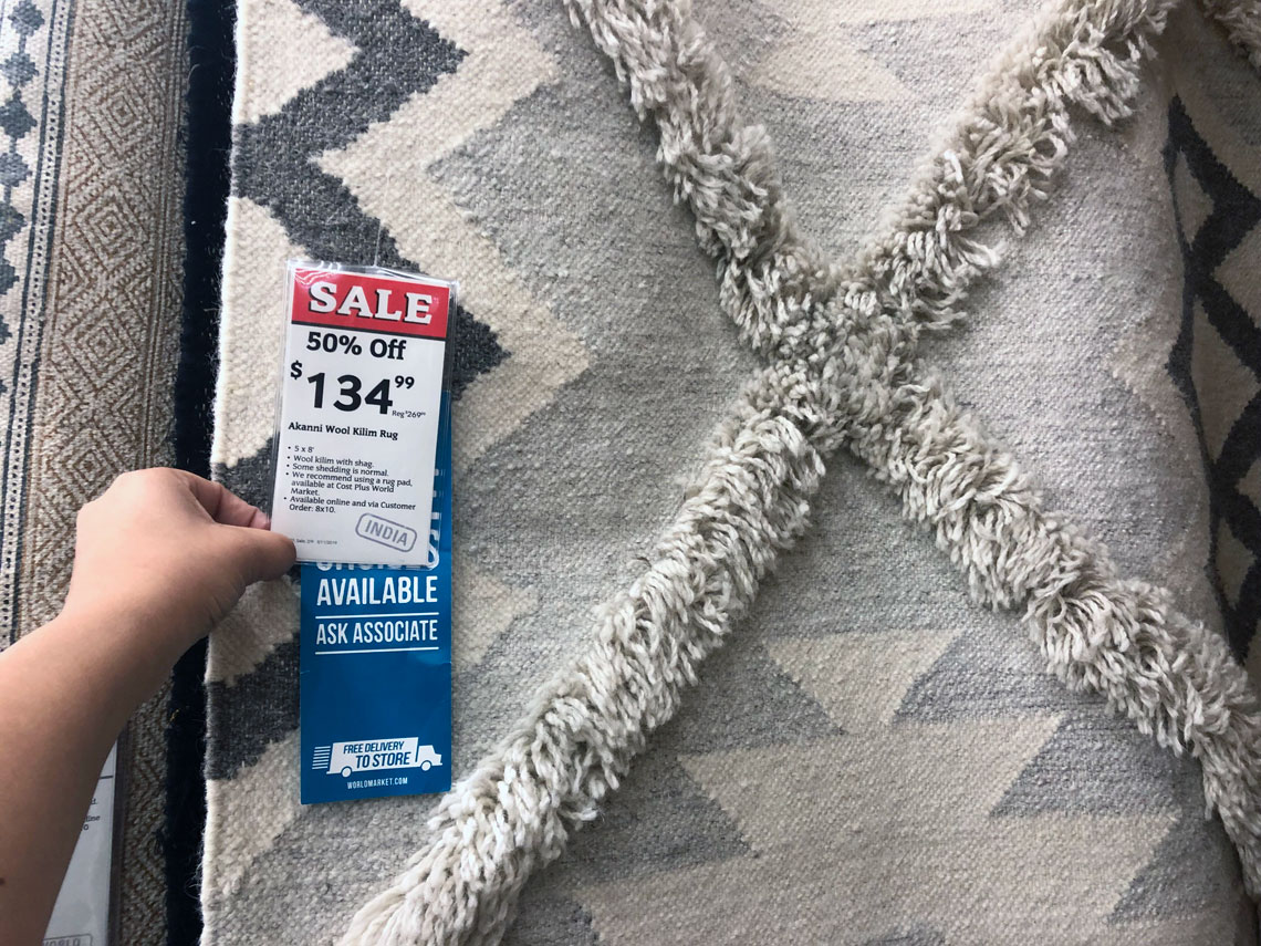 Rugs Online Sale Up To 50 Off Rugs At World Market The Krazy Coupon Lady