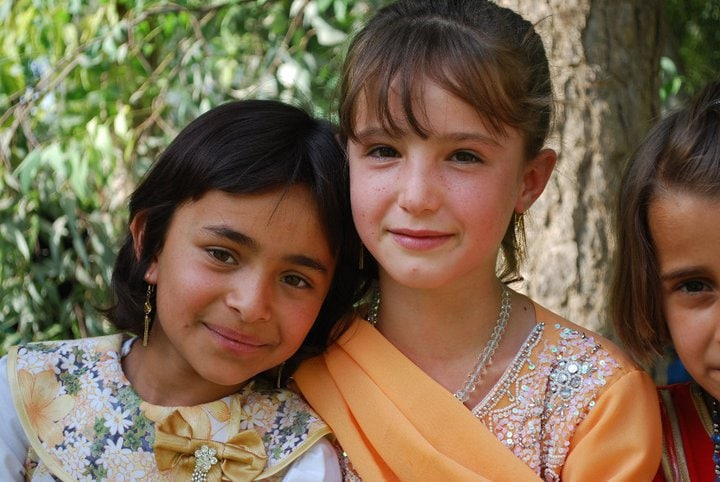 Two Kurdish girls in Halabja, Iraq