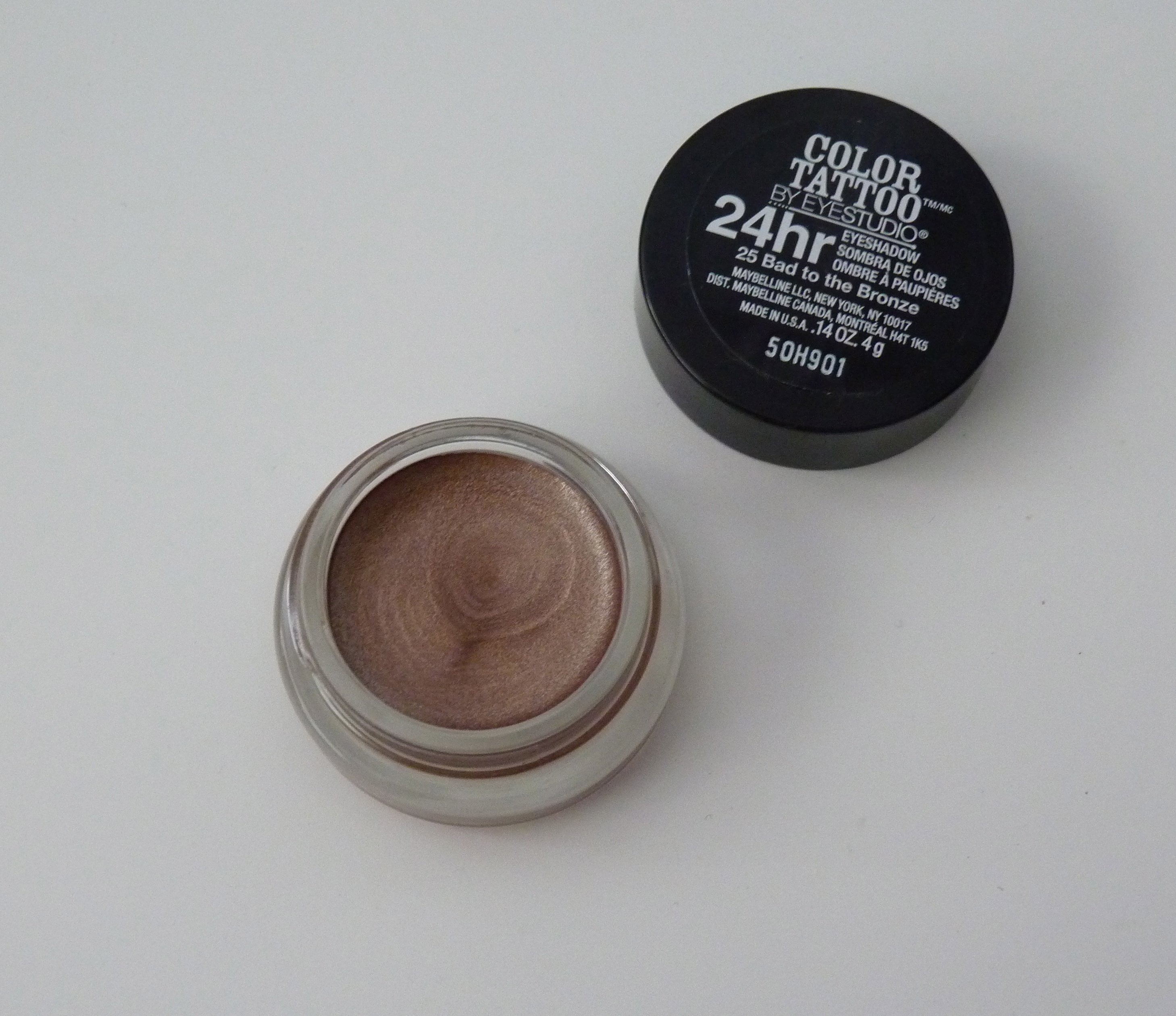 Bad 24 Maybelline Bad To The Bronze 25 Color Tattoo 24 Hour Eyeshadow