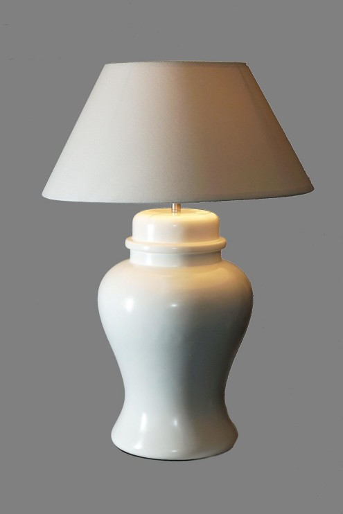 Table Lamp Tripod White Table Lamp With A White Shade - - Table Lamps