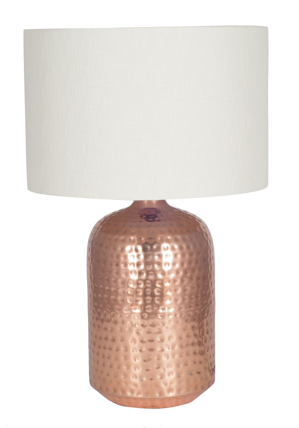 Pot Table Lamps Copper Hammered Capsule Pot Table Lamp Base