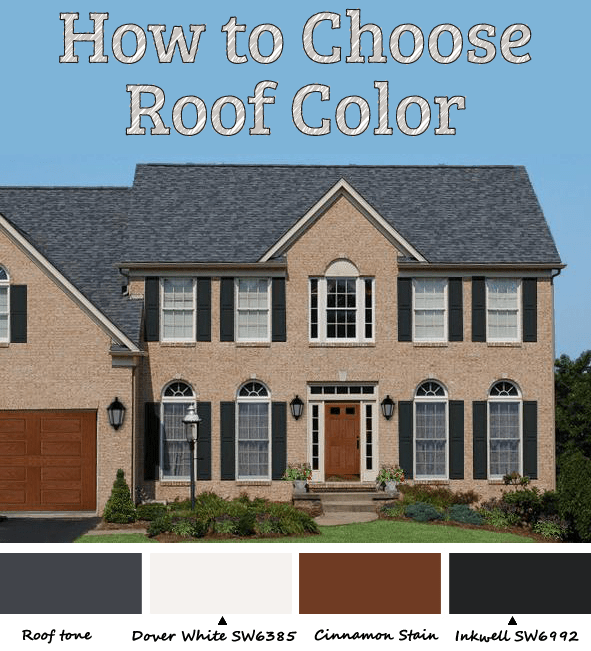 How to pick roof color let hue bias be your guide - How to choose paint colors for house exterior property ...