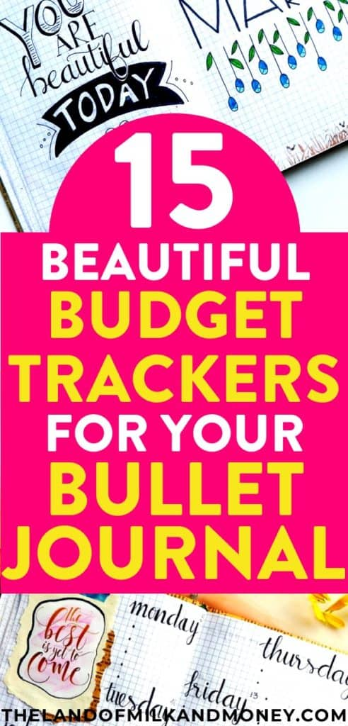 15 Incredible Bullet Journal Ideas To Manage Your Money - budget trackers
