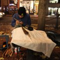 Aboriginal artists practise their craft along the streets of Gastown. Local artists offer alternative souvenirs to tourists.