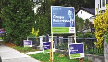 Mayor Gregor Robertson and big money retains control of Vancouver.   Photo by Anne-Diandra Louarn