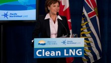 Premier Christy Clark at a press conference announcing another LNG agreement. | Photo courtesy of Jamie Russell