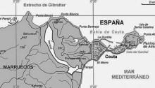 Cartographie de Ceuta.
