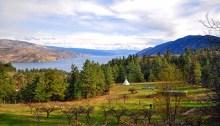 La ferme Ravens' View et sa vue à un million de dollars sur le lac Okanagan, selon les Wwoofers. | Photo par Anne-Diandra Louarn