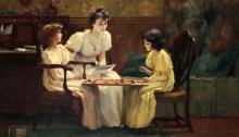 A Friendly Game de Francis Coates Jones (1857–1932). | Photo par Uno Langmann Limited