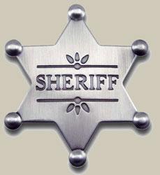 Old West Sheriff Badges