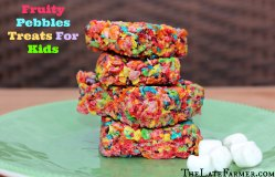 Innovative Coconut Oil Fruity Pebble Treats Fruity Pebbles Treats Microwave Kids Recipe Latefarmer Fruity Pebble Treats