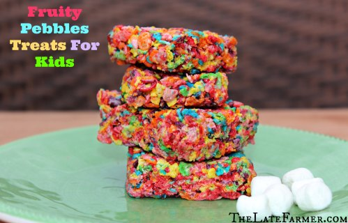 Medium Of Fruity Pebble Treats