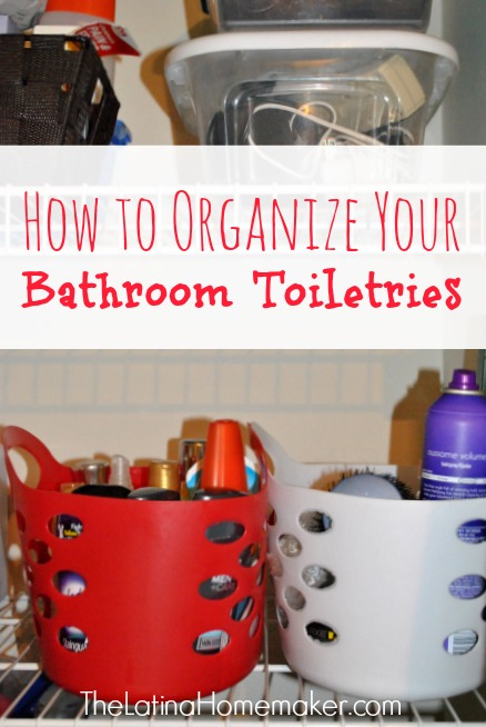 How To Organize Your Bathroom Toiletries {Plus Free Labels!}